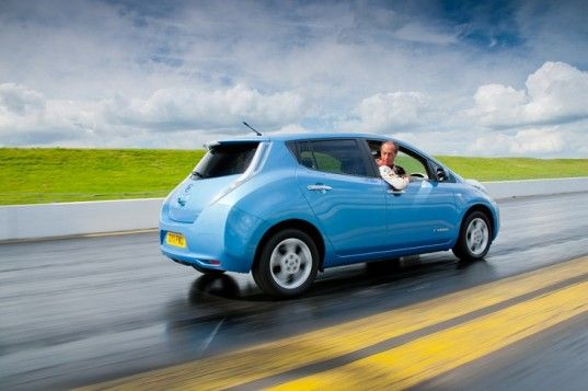 Nissan claims their LEAF can travel just as fast backwards as it can going forward