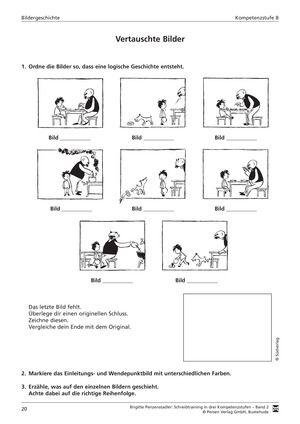 deutsch arbeitsbl tter von fachverlagen deutsch lernen bildergeschichten grundschule. Black Bedroom Furniture Sets. Home Design Ideas