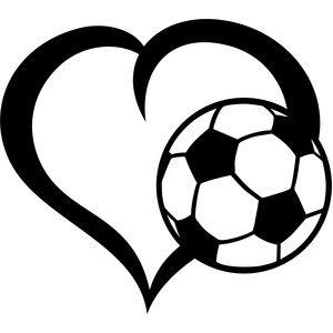 ball soccer heart cricut pinterest silhouette design