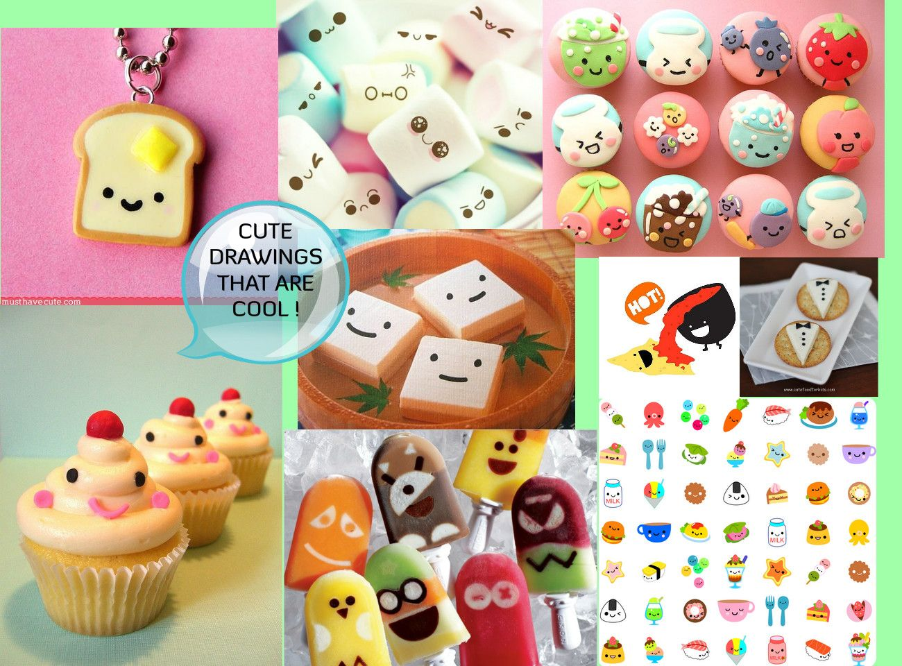 Cute Cartoon Food | Cute Cartoon Food with Faces | food ...