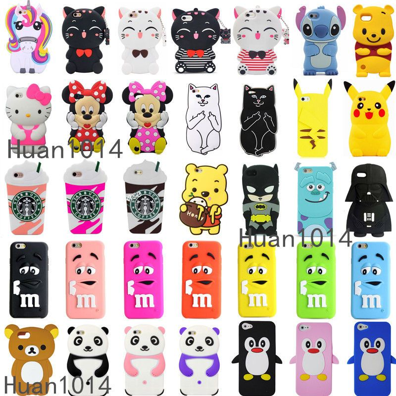 For iPod Touch 5 / 6 iPhone 3D Case Cover Cute Cartoon Animal Soft ...