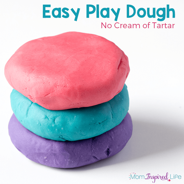 This easy play dough recipe uses no cream of tartar. Whip