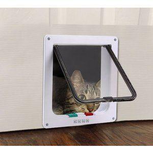 Pet cat flap door 4 way lockable plastic safe cat flap suita …