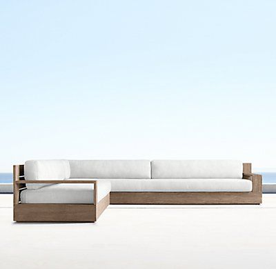 marbella furniture collection. Marbella Teak Classic Left-Arm L-Sectional - Weathered Furniture Collection