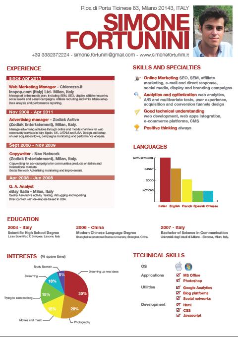infographic cv Cerca con Google Infografik lebenslauf