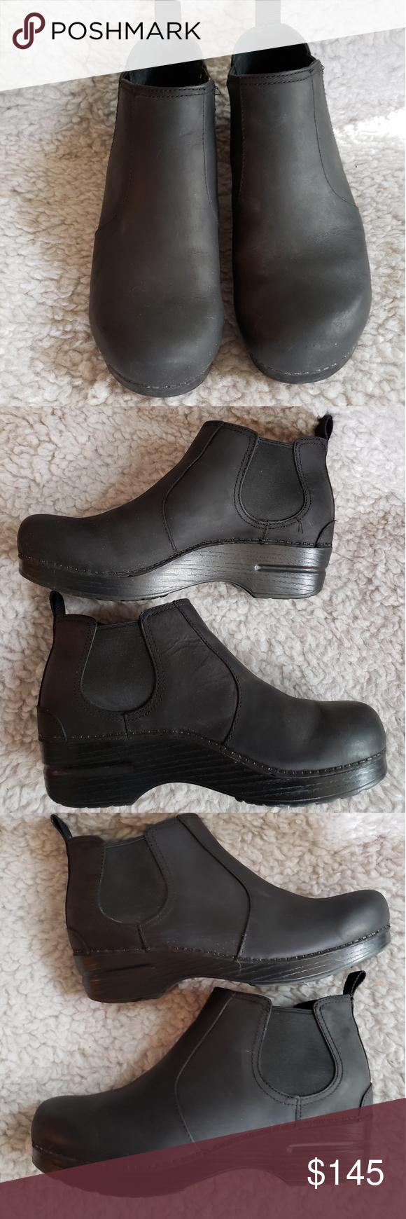 Dansko Frankie Black Oiled Ankle Boot