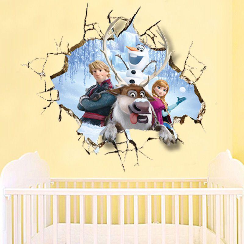 Frozen Anna Elsa Anna Childrens Nursery Wall Sticker Decor Large Girls Uk Stoc Nursery Wall Stickers Art Wall Kids Sticker Decor