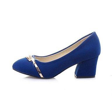 Women's Shoes Round Toe Chunky Heel Pumps Shoes More Colors available – USD $ 44.99