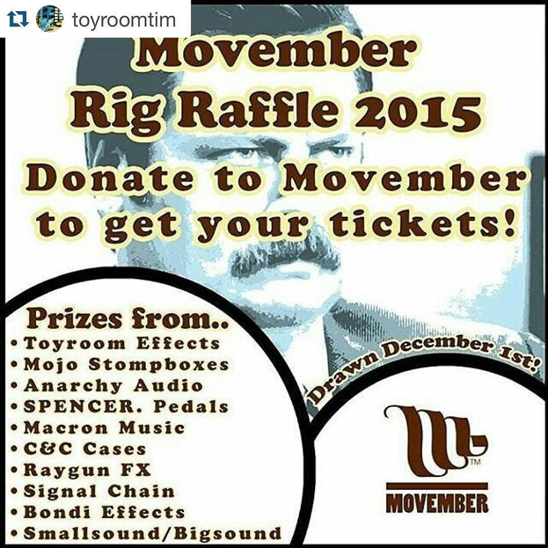 #Repost @toyroomtim with @repostapp.  repost from @marikacrylic Support men's health this Movember and donate to a great cause! @toyroomtim has put together an incredible raffle with the support of some awesome donations (including a handpainted custom by #marikacrylic)...head over to the link in his bio and for as little as $2 you'll be in it to win it  @mojostompboxes @smallsoundbigsound @spencerpedals @macron_music @raygunfx @signalchainmusic @bondieffects @signalchainmusic @candccases…