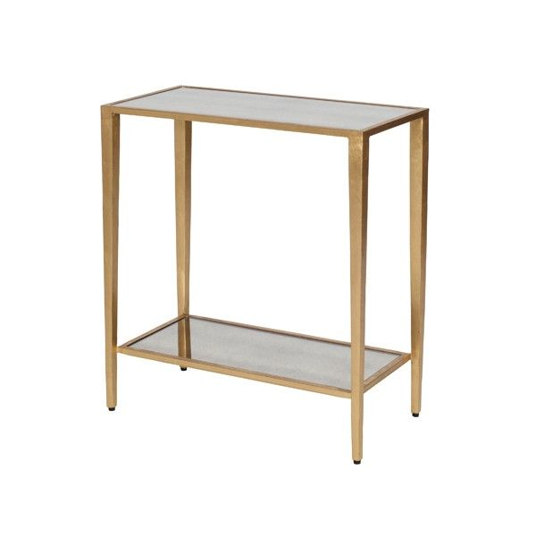For Side Table Next To Fridge Joyce G Two Tier Gold Leaf