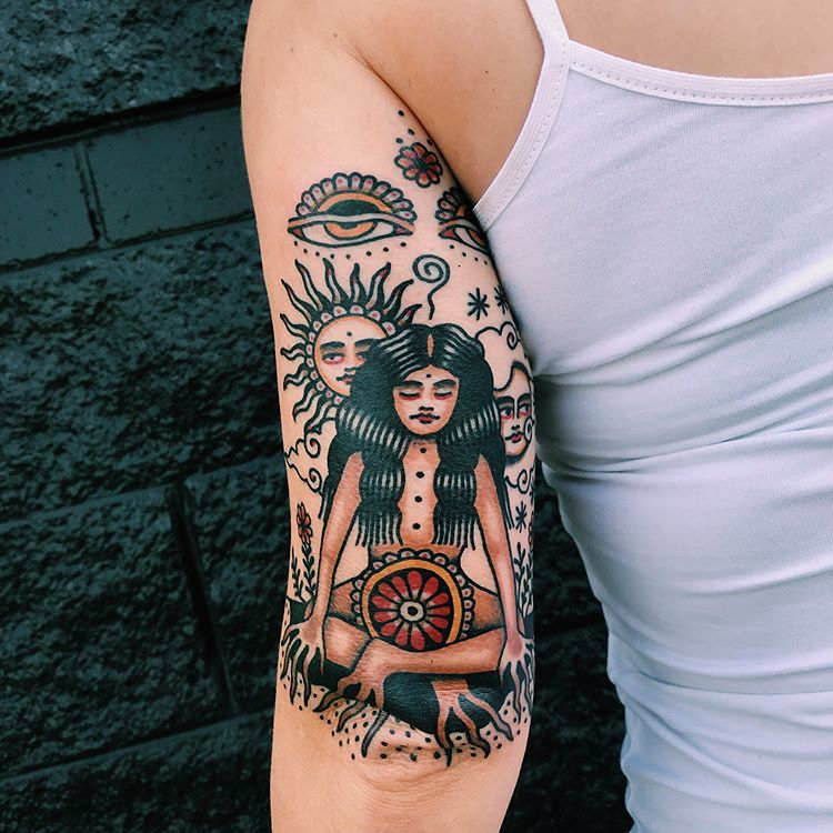 Traditional Style Tattoos For Women