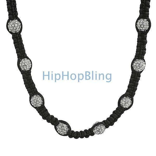 Bling Bling 23 Disco Balls Hip Hop Chain Disco Ball Necklaces