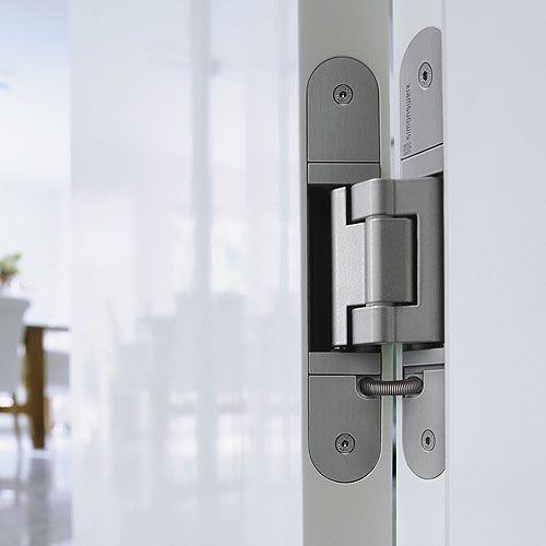 Tectus Hinge Installation Photo Showing Concealed Te540 Concealed Hinge Concealed Hinges Door Handles Modern Modern Door