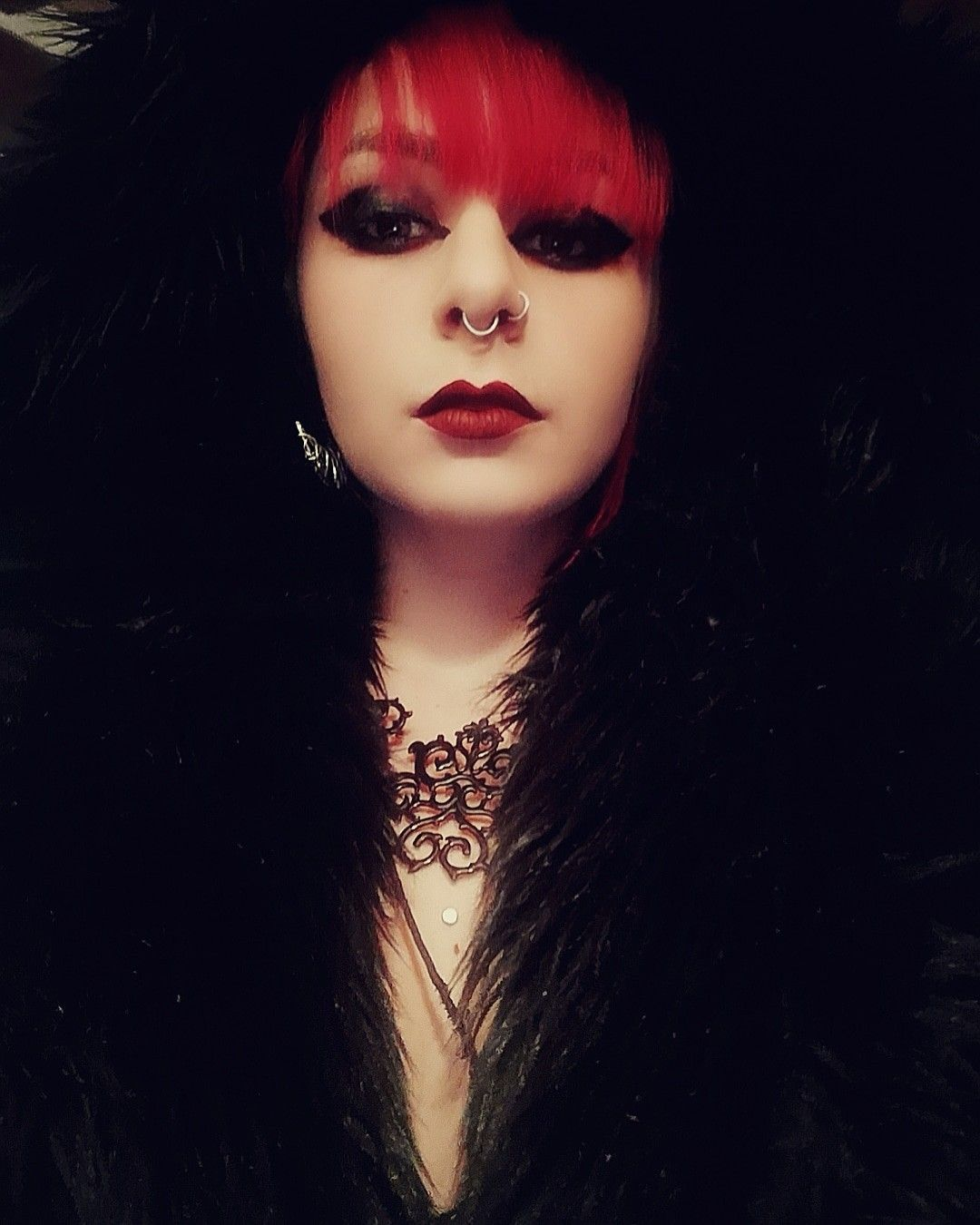 #redhair #witch #moon #gothgirl #piercedgirl #tattoogirl