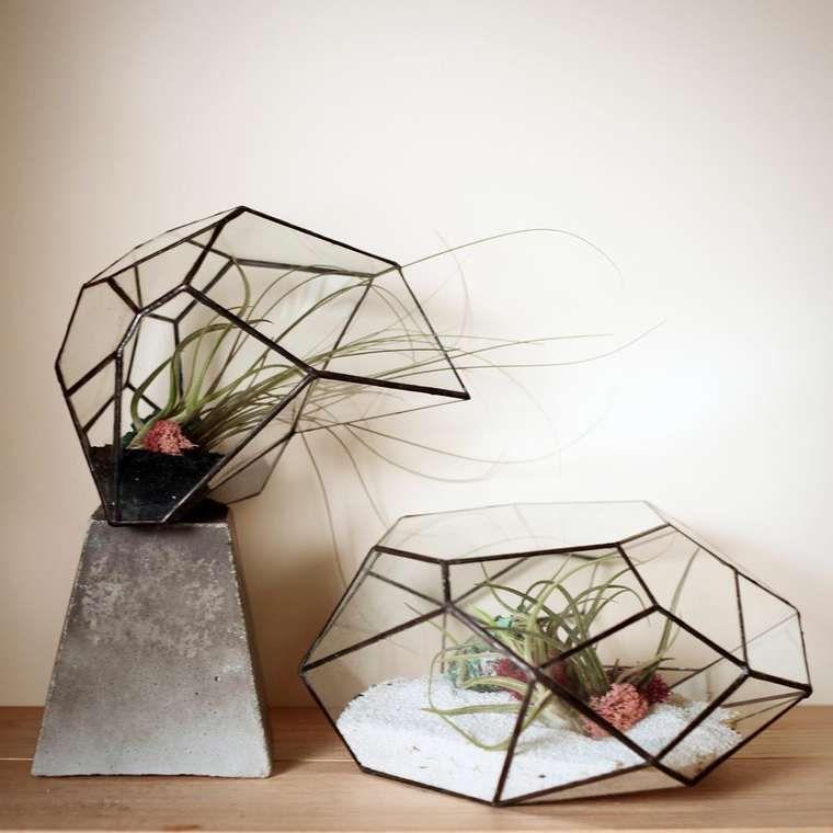 Des Mini Terrariums Geometriques Pour Vos Plantes Vitraze Skleniky Mozaika
