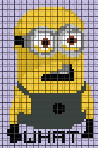 Minion Perler Pattern by LizzyLucky   Easy pixel art   Pinterest   Bebe