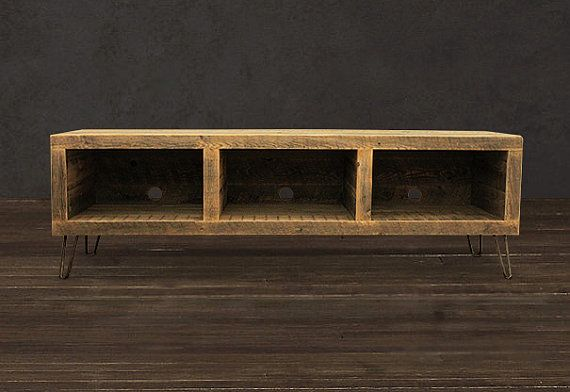 Reclaimed Wood Media Console By Atlaswoodco On Etsy Tv Meubels