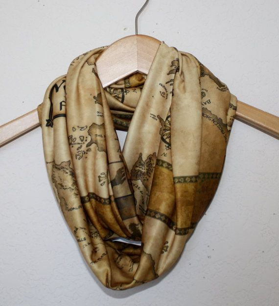 Westeros Map, Game of Thrones  Circle Scarf, infinity scarf