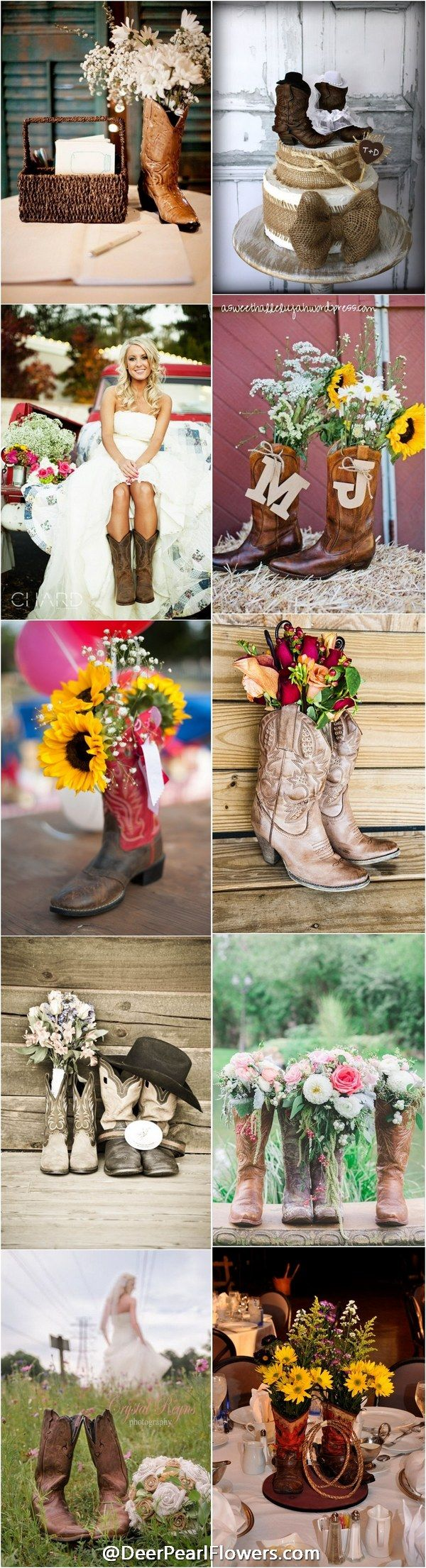 awesome Cowgirl Wedding Ideas Part - 12: rustic country cowboy cowgirl wedding ideas -  http:--www.deerpearlflowers.com