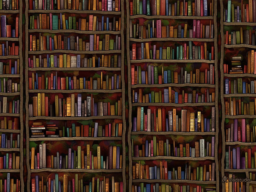 If Reading More Books Is At The Top Of Your To Do List You Wont Be Able Look Away From This Library Wallpaper