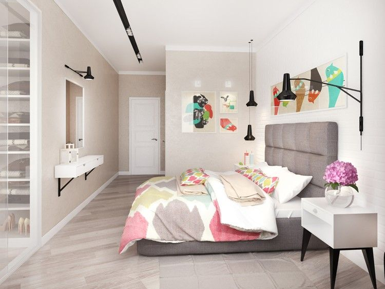 Chambre cosy et tendances déco 2016 en 20 idées cool ! Decoration - couleur tendance chambre a coucher