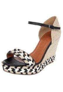 Sandália My Shoes Plataforma Preta