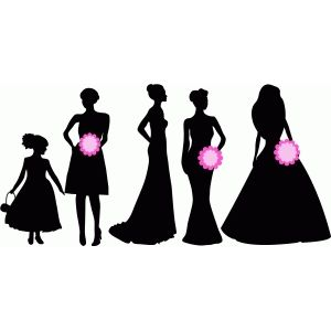 silhouette design store build your own wedding party ladies rh pinterest com