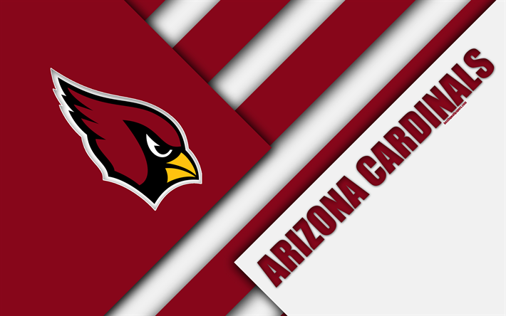 American Sports Material Wallpapers: Download Wallpapers Arizona Cardinals, 4k, Logo, NFL, Red