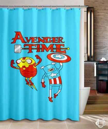 Cheap Finn And Jack Adventure Time Movie Shower Curtain Cheap