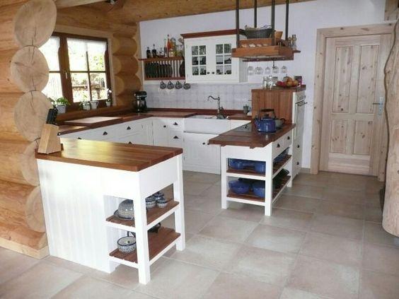 Kuche Kleine Kuche Landhausstil Fliesen Kuche Wand Landhaus