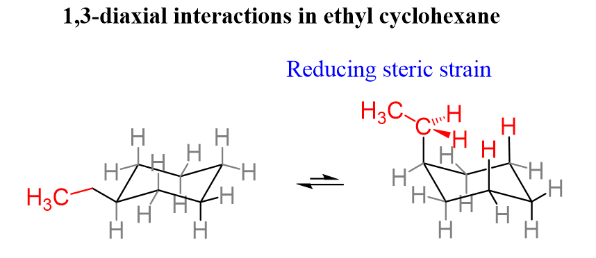 Ethylcycohexane 1 3 Diaxial Interactions Favorable Conformation Interactive Free Energy Chemistry