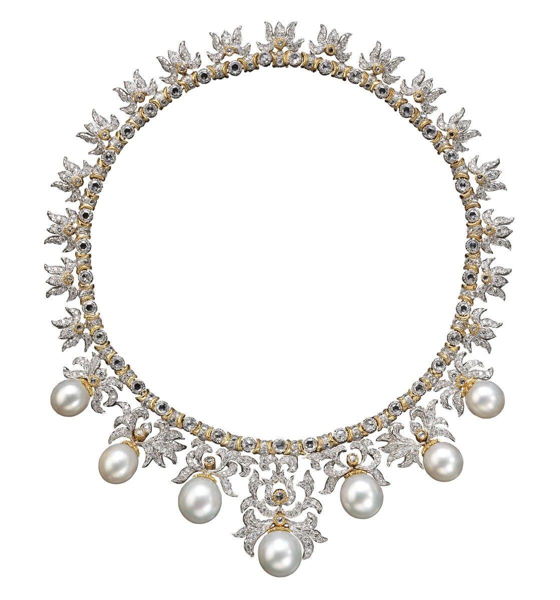 Andrea Buccellati, Necklace. White gold, diamonds. TEFAF 2015 Haute Joaillerie (13-22 March 2015) – stand 144