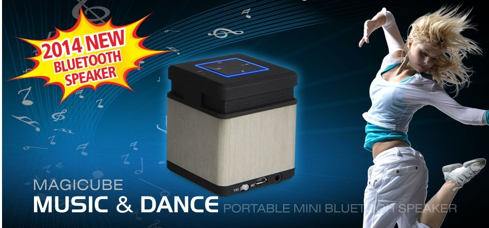 Music and dance! 2014 new Bluetooth speaker-MAGICUBE. Portable、wireless、metallic、mini, guarantee quality, good for your outdoor party or as a gift.  http://www.aliexpress.com/item/Magicube-portable-wierless-bluetooth-4-0-speaker-for-iphone-ipad-and-android-smartphone/1887585891.html?s=p