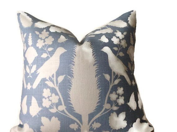 Decorative PILLOW COVER Color Ivory SKY Printed Fabric Front Back Adorable How Do You Clean Decorative Pillows