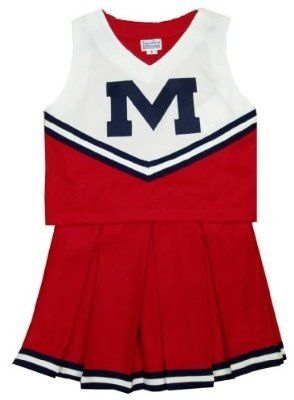 57b7590ad VERY Cute     Mississippi Rebels - Ole Miss Child Cheerdreamer ...