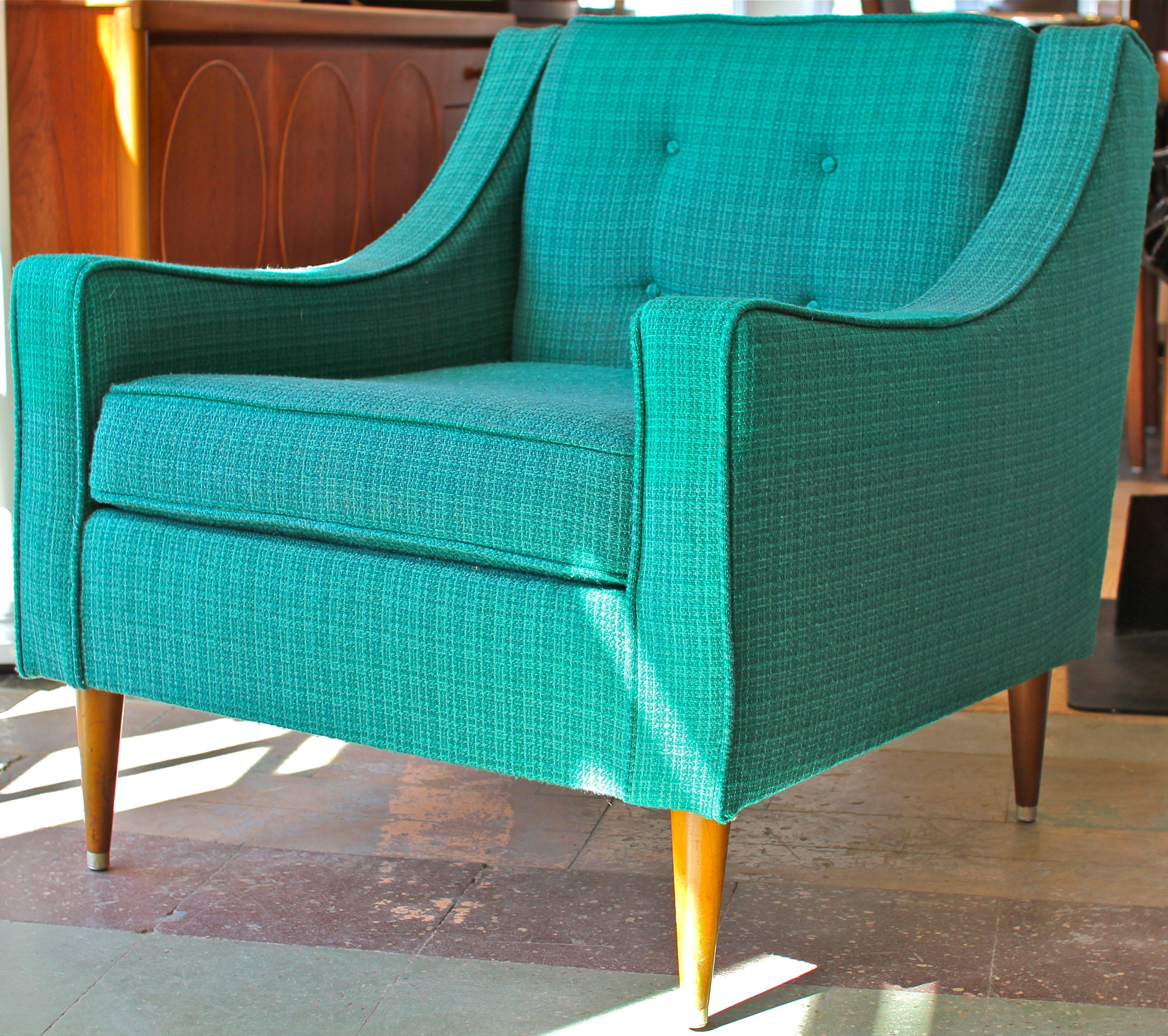 Turquoise Mcm Atomic Dowel Legs Vintage Turquoise Green