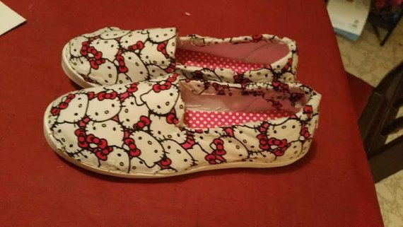 Hello Kitty Shoes by SoMuchSpoilers on Etsy