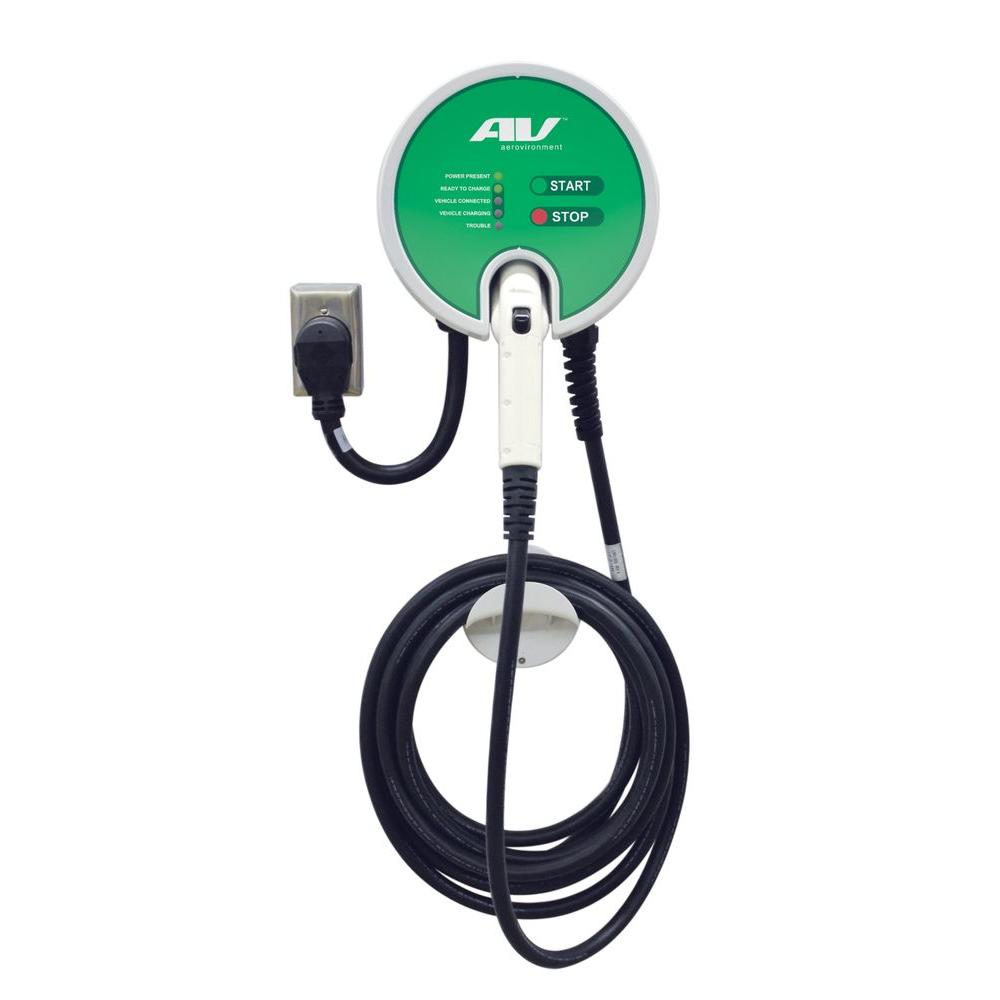32 Amp Level 2 Plug In Ev Charging Station With 25 Ft Charge Cable
