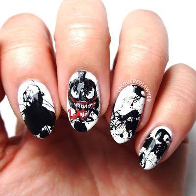 venom in 2020  marvel nails superhero nails nails