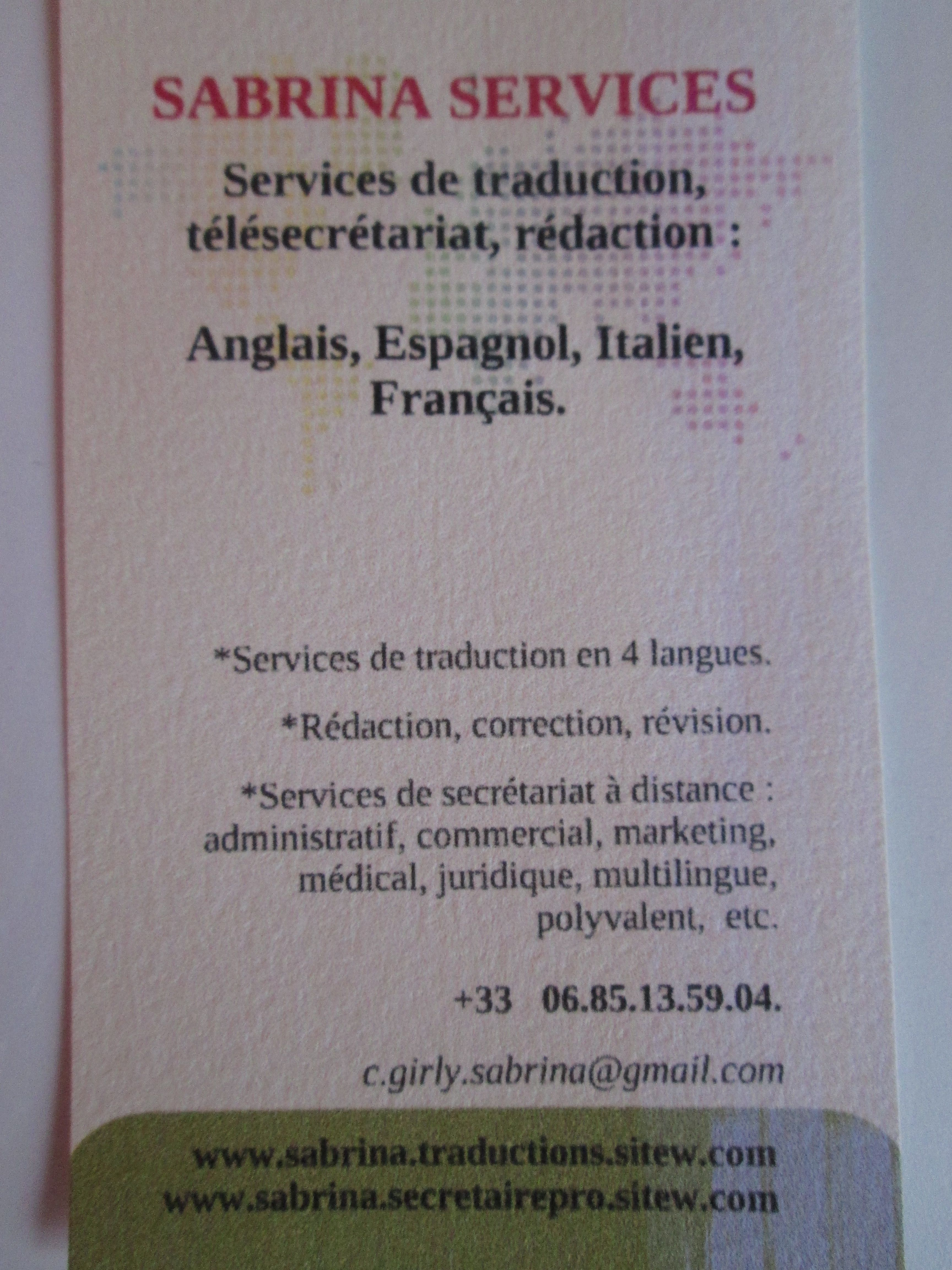 87 Traduction Carte De Visite