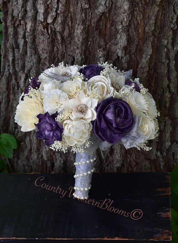 Wedding Bouquet Fall Bouquet Plum Bouquet Purple Bouquet Plum