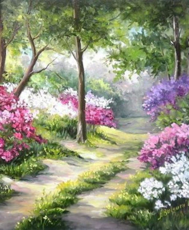 Pin By Norma Del Valle Avellaneda On Art Spring Landscape Landscape Paintings Landscape Art