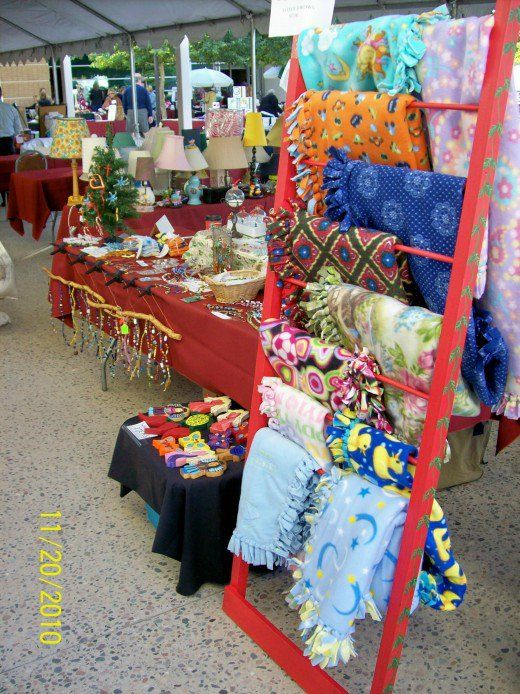 Repurposed Inexpensive Handmade Craft Display Shelves Booth Displays Fair