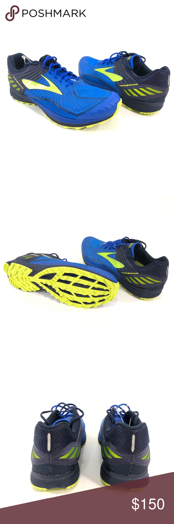 a7e8968faf6 Brooks Mazama Men s Trail Running Training Shoes BROOKS Brooks Mazama Men s  running shoes Size 11 Blue   Yellow Low top New without box 32BM802 Brooks  Shoes ...