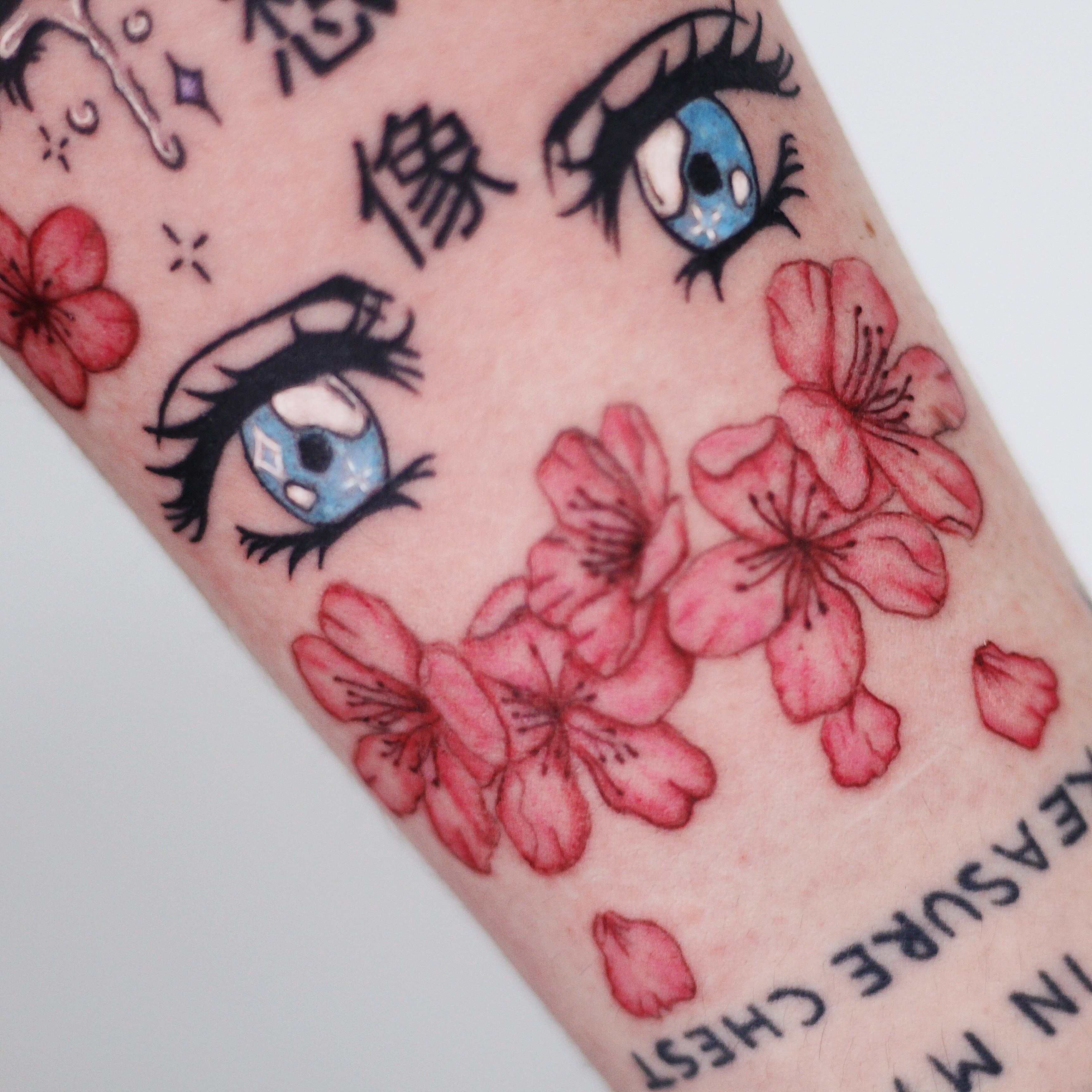 Anime Manga Tattoo Done By Etherea Tattoo Tatuaggio Cartone Anime Eyes Eye Tattoo Special Tattoos Pretty Tattoos