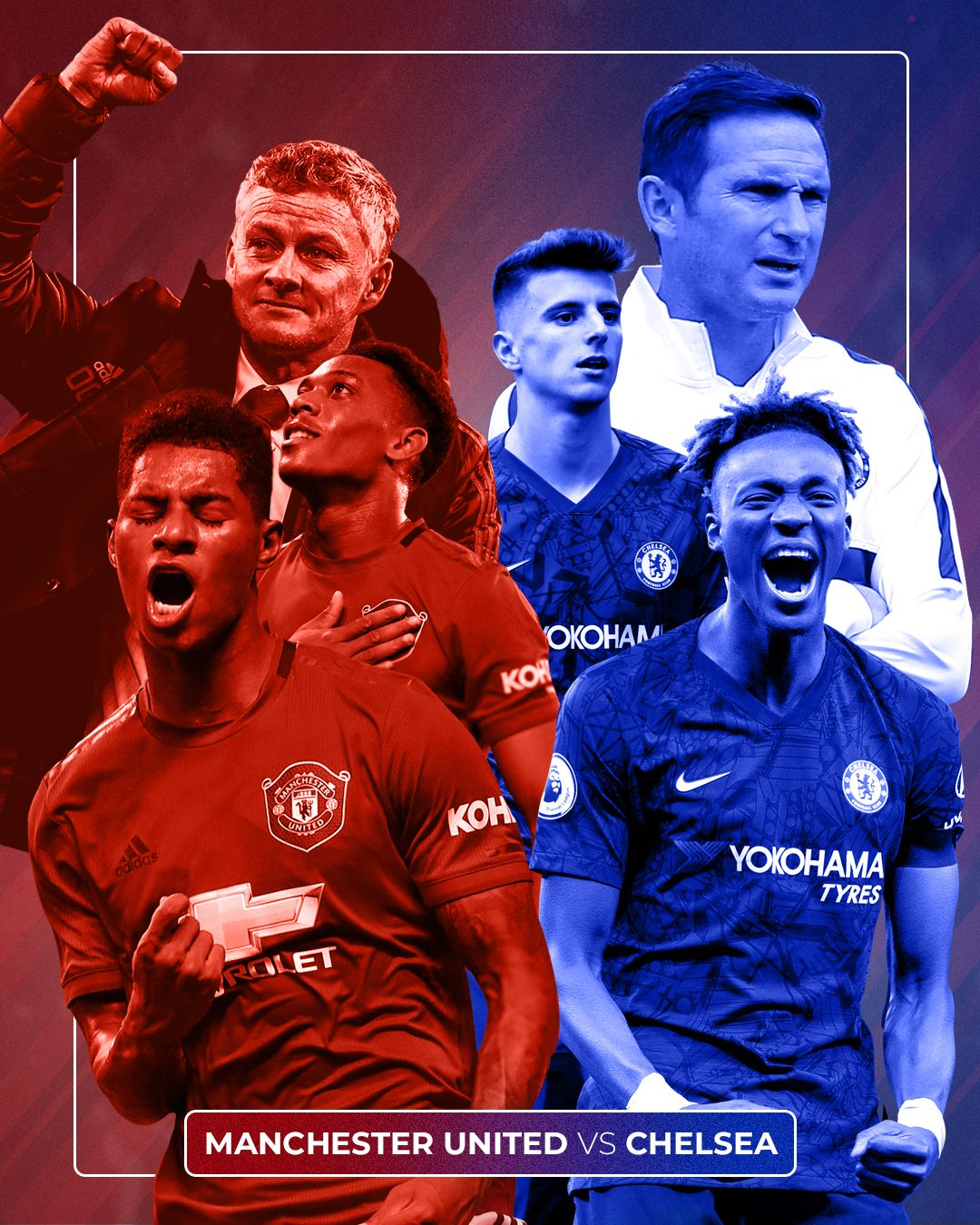 Manchester United Chelsea In 2020 Manchester United Champions League Manchester United Chelsea Manchester United Poster