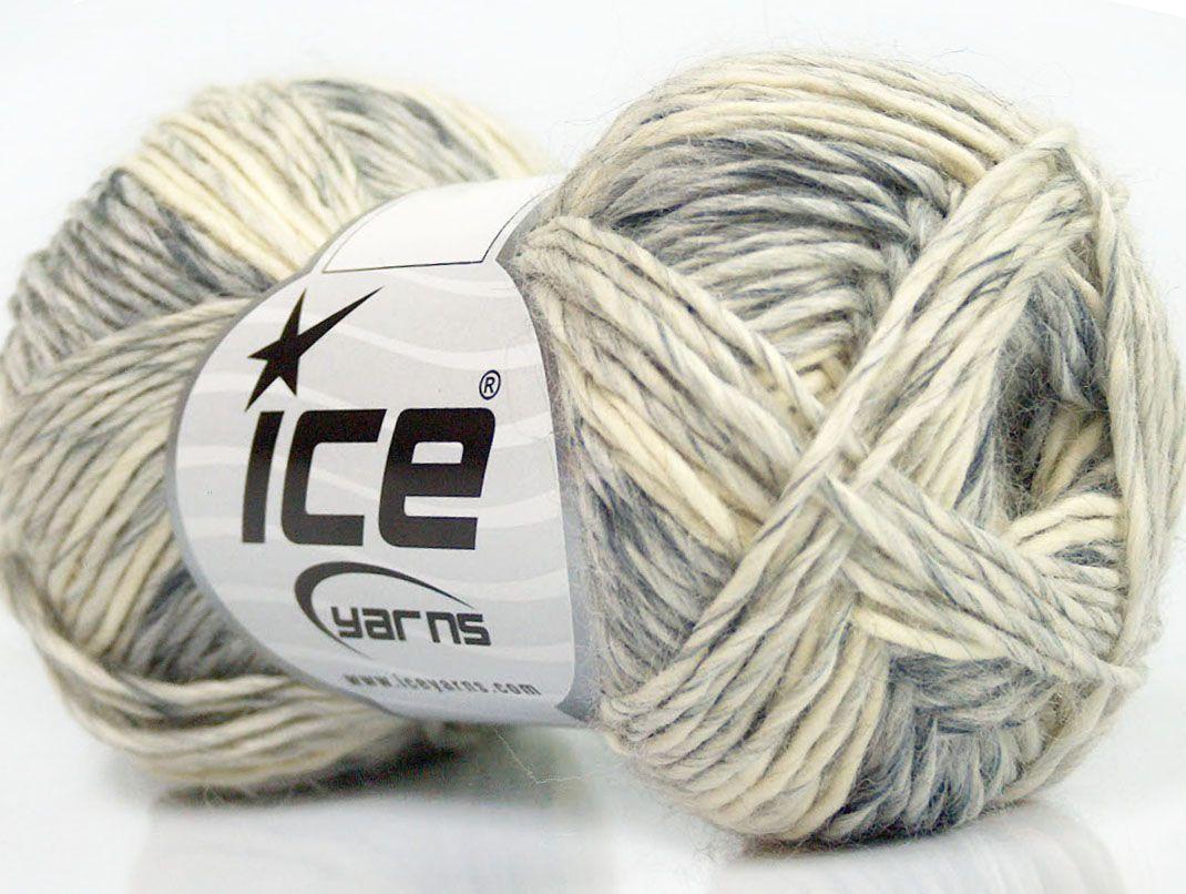Fiber Content 50% Acrylic 50% Wool Light Grey Brand ICE Cream fnt2-40273