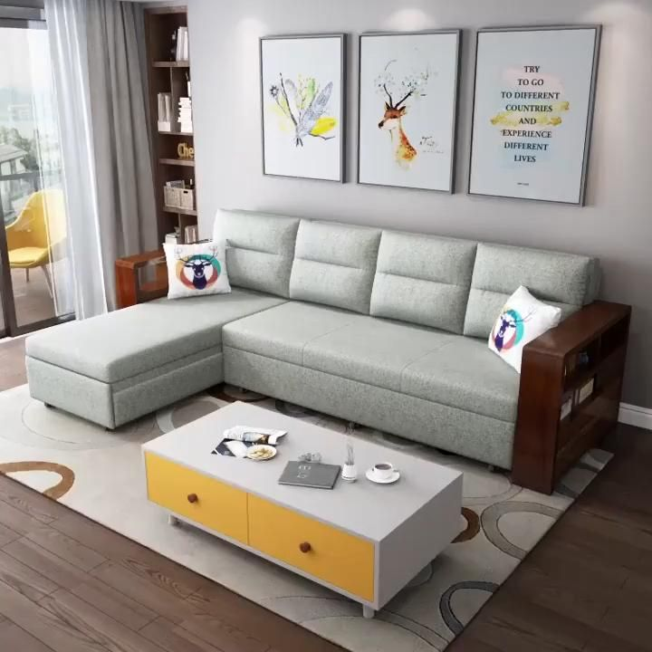 L-shape Sleeping Sofa For Living Room
