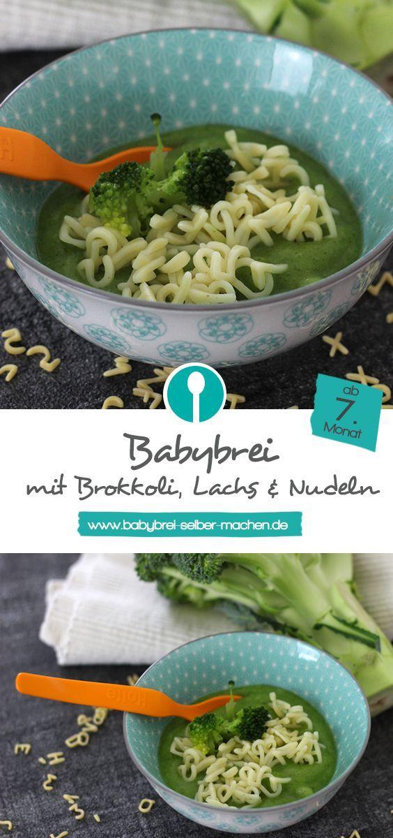 Baby porridge with broccoli, salmon and pasta - lunch porridge with fish recipe#baby #broccoli #fish #lunch #pasta #porridge #recipe #salmon
