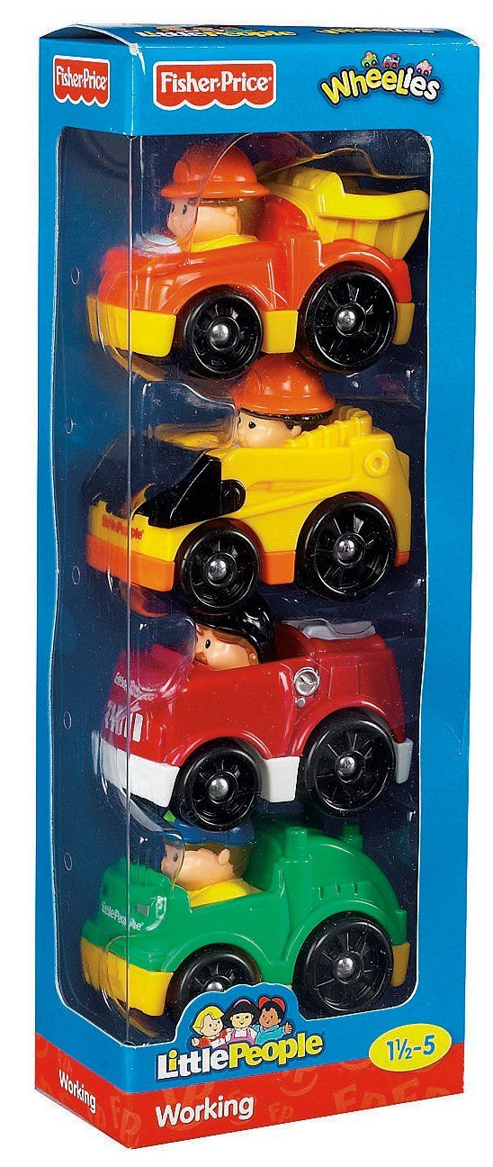 Amazon.com: Fisher-Price Little People Wheelies All About Working: Toys & Games